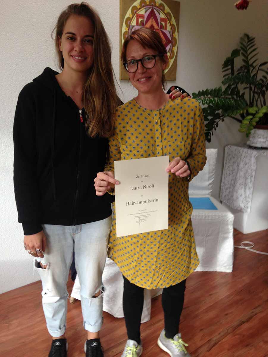 Ausbildung in Brugg - Erworbenes Zertifikat für Hair-Impulsing®